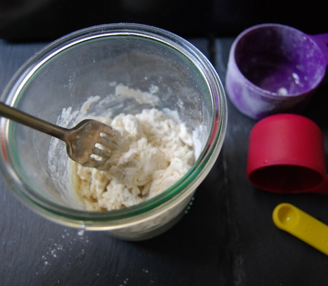 Chef Day 1 add flour