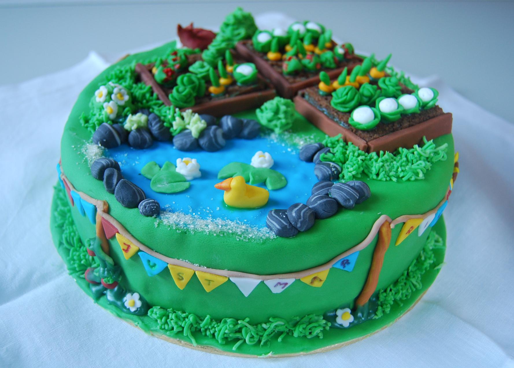 Allotment-themed Cake