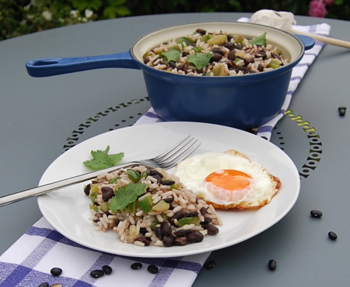 Gallo Pinto with fried egg