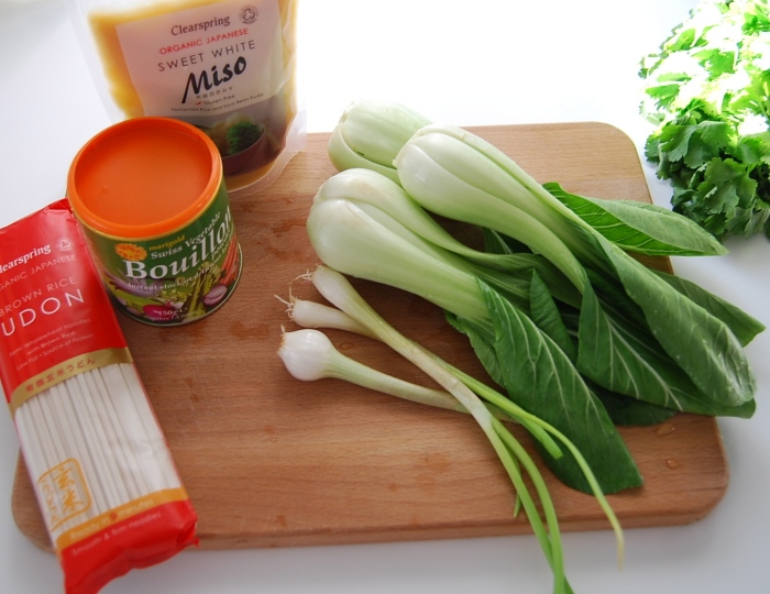 Ingredients for Miso soup