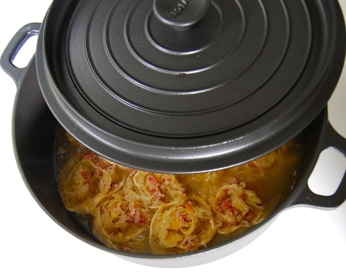 Krautkrapfen or Sauerkraut Dumplings