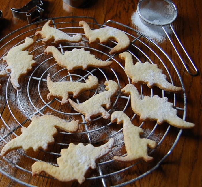 Butter biscuit dinosaurs
