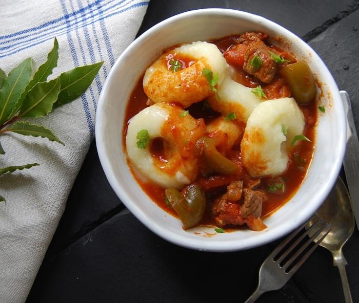 Dumplings and goulash