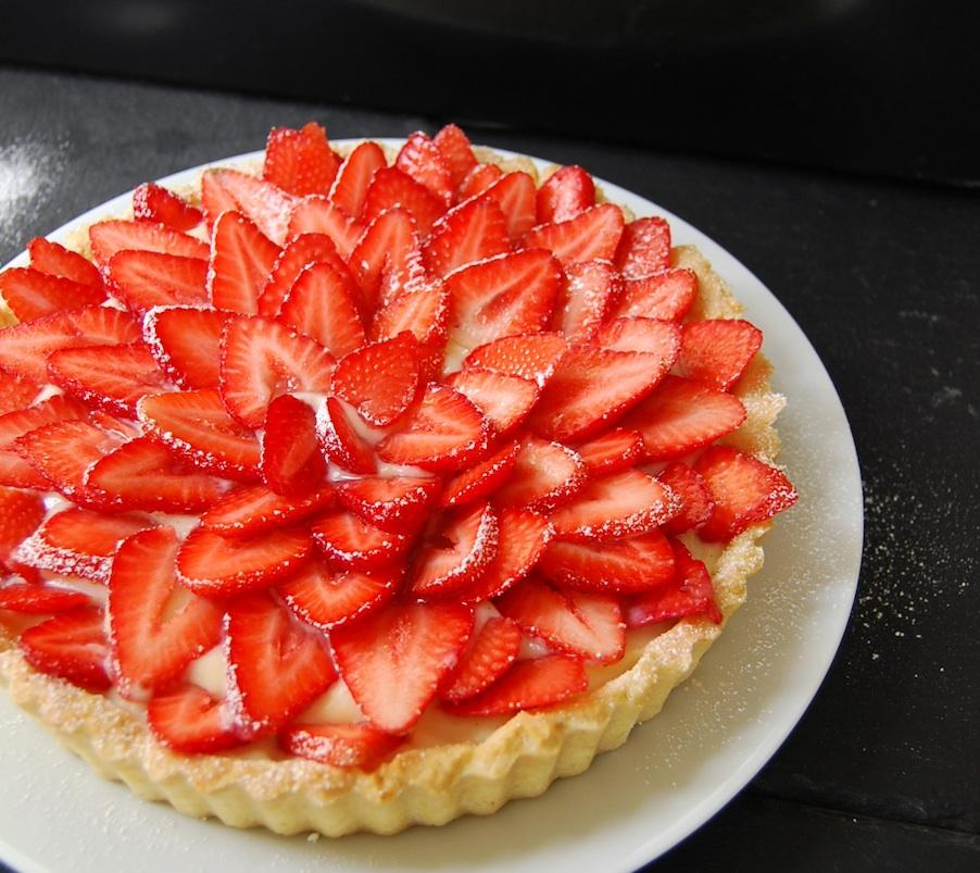 Tarte aux fraises strawberry tarte - Decoration tarte aux fraises ...