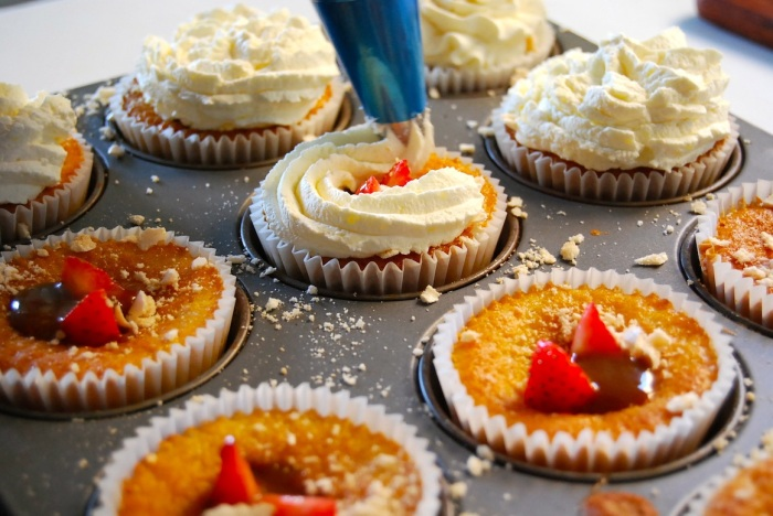 fruit-filled cupcakes