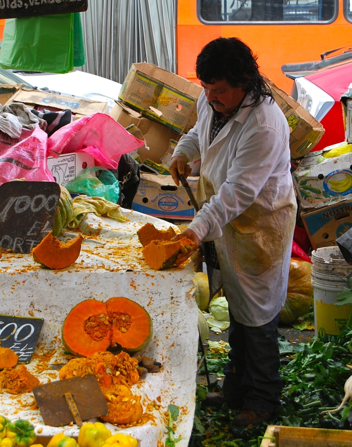 Pumpkin in Santiago market